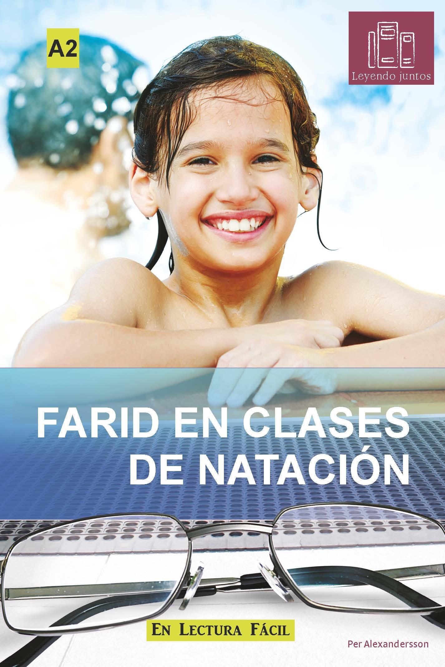 Farid en clase de natación